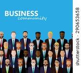 flat  illustration of business... | Shutterstock . vector #290653658