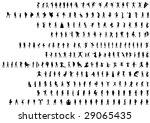 lady illustration set more than ... | Shutterstock .eps vector #29065435