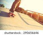 skateboarder legs skateboarding ... | Shutterstock . vector #290656646