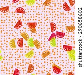 decorative optimistic orange... | Shutterstock . vector #290658602