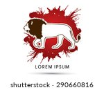 lion side view  designed on... | Shutterstock .eps vector #290660816