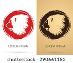 lion face  head  side view ... | Shutterstock .eps vector #290661182
