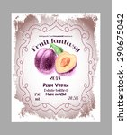 vintage fruit alcohol labels.... | Shutterstock .eps vector #290675042