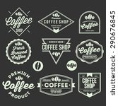 various coffee shop and product ... | Shutterstock .eps vector #290676845