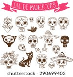 hand drawn doodles  mexican... | Shutterstock .eps vector #290699402