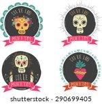 Print   Mexican Sugar Skull And ...