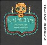 print   mexican sugar skull ... | Shutterstock .eps vector #290699456