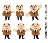 set of man characters | Shutterstock .eps vector #290708855