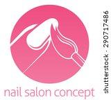 nail technician  nail bar or... | Shutterstock .eps vector #290717486