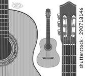 Acoustic Guitar In Engraving...