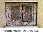 window with iron bars and