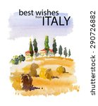 vector watercolor illustration...   Shutterstock .eps vector #290726882
