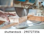 Circular Saw. Carpenter Using...