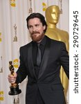 Small photo of LOS ANGELES, CA - FEBRUARY 27, 2011: Christian Bale at the 83rd Academy Awards at the Kodak Theatre, Hollywood.