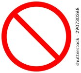 forbidden sign  isolated on... | Shutterstock . vector #290730368