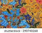 beautiful fabric seamless... | Shutterstock . vector #290740268