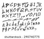 vector real hand alphabet ... | Shutterstock .eps vector #290740775