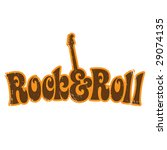 1970s rock and roll vintage t... | Shutterstock .eps vector #29074135