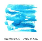 blue watercolor hand drawn... | Shutterstock .eps vector #290741636