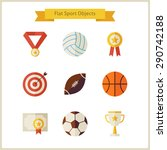 flat sport and competition... | Shutterstock .eps vector #290742188