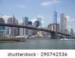 brooklyn bridge under a blue... | Shutterstock . vector #290742536