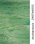 Green Wooden Wall  Painted In...