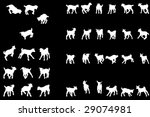 playful baby goat silhouettes... | Shutterstock .eps vector #29074981