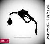 gasoline pump nozzle sign.gas... | Shutterstock .eps vector #290751542