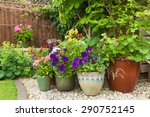 shady corner of a garden with...   Shutterstock . vector #290752145
