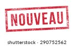 stamp new in french | Shutterstock .eps vector #290752562