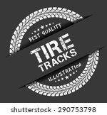 tire tracks | Shutterstock .eps vector #290753798