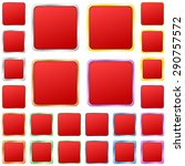 red blank square metal button... | Shutterstock .eps vector #290757572