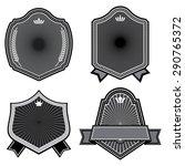 set of badges ribbons banner... | Shutterstock .eps vector #290765372