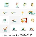 set of new universal company... | Shutterstock .eps vector #290768195