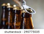 Brown Ice Cold Beer Bottles...
