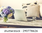 modern wooden coffee table ... | Shutterstock . vector #290778626