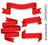 celebration curved ribbons... | Shutterstock . vector #290782922
