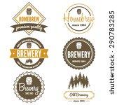 set of vintage logo  badge ... | Shutterstock .eps vector #290783285