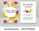 wedding invitation cards ... | Shutterstock .eps vector #290799002