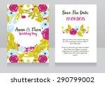 wedding invitation cards ... | Shutterstock .eps vector #290799002
