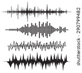sound wave icon set. equalize... | Shutterstock .eps vector #290799482
