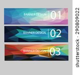 a set of vector banners with... | Shutterstock .eps vector #290809022