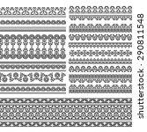 henna banner  border  henna...   Shutterstock .eps vector #290811548