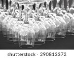empty cups of wine on a table... | Shutterstock . vector #290813372