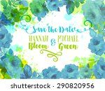 wedding invitation  background...   Shutterstock .eps vector #290820956