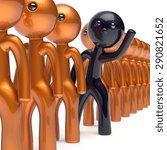 different people black...   Shutterstock . vector #290821652