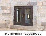 vintage wooden window frame in... | Shutterstock . vector #290829836