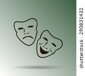 vector theatrical masks icon | Shutterstock .eps vector #290831432