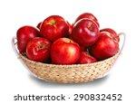 Ripe Red Apple In Wicker Basket ...