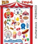 fair carnival vector graphics   Shutterstock .eps vector #29084023